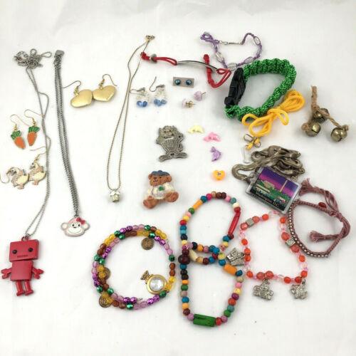 Kids Lot Of Earrings, Necklaces, Bracelets Etc. Jewelry Lot