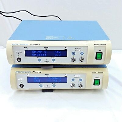 Lot Of 2 Smith And Nephew Dyonics Power Control Units 7205841 Power On
