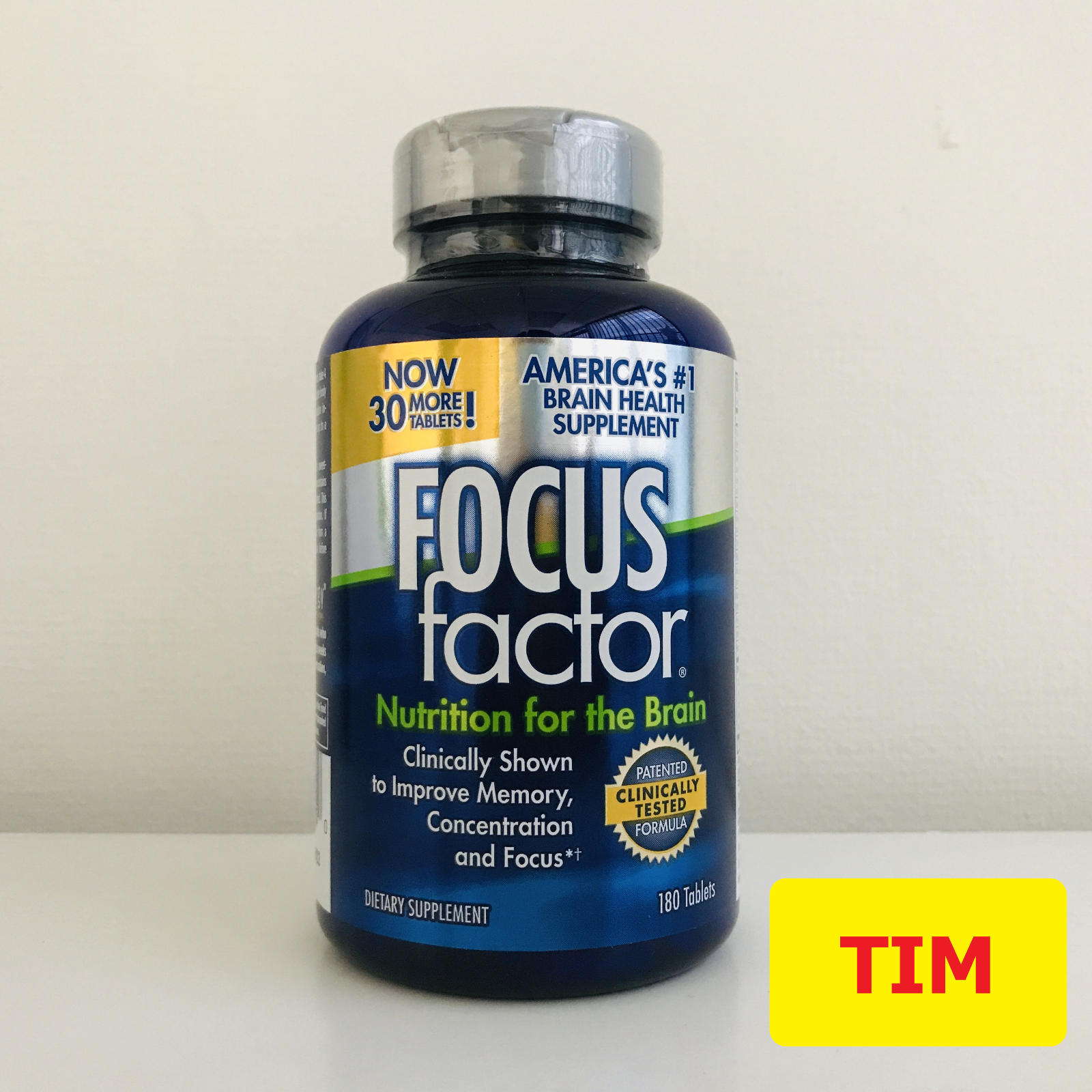 (JUST ARRIVE) Focus Factor Brain Supplement - 180 Tablets (NEW Inventory!!!)