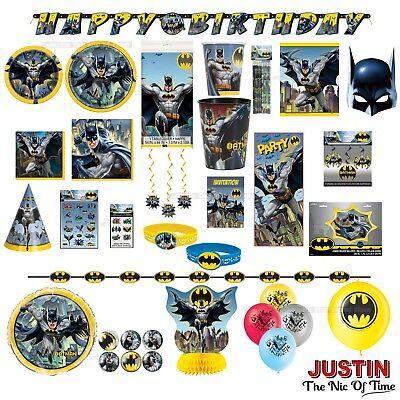 BATMAN Birthday Party Tableware Boys Superhero Supplies & - Clearance Party Supplies