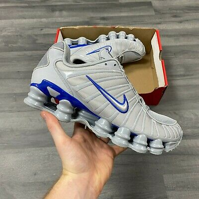 NIKE SHOX TL GREY BLUE TRAINERS SHOES SIZE UK7 US8 EUR41 CM26...