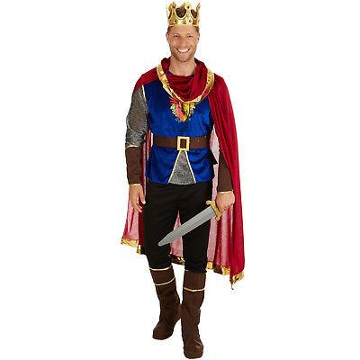 Herrenkostüm König Kostüm Männer Karneval Fasching Halloween Burg - Halloween Herren