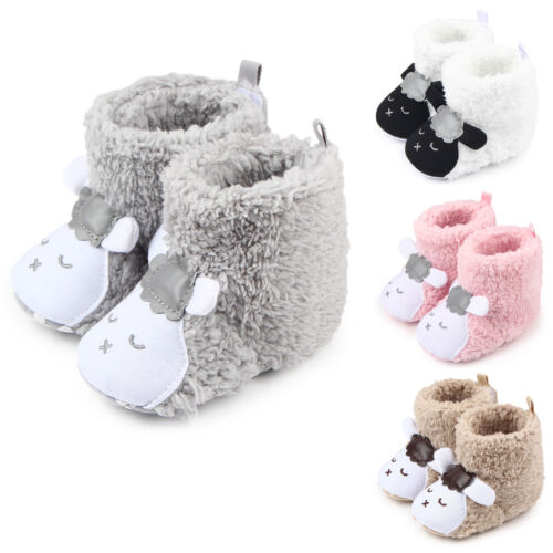 Babyschuhe Mädchen Jungen Bettschuhe Stiefelchen Krabbelschuhe Baby Warm schuhe