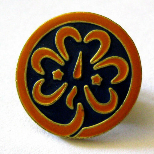 Girl Scout 1992-Current WORLD TREFOIL PIN Association Uniform Button EXCEL. USED
