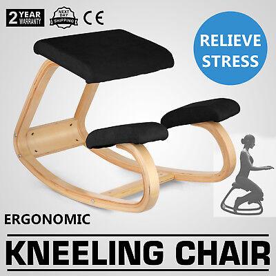 Ergonomic Kneeling Chair Adjustable Bentwood Office Home Balance Body