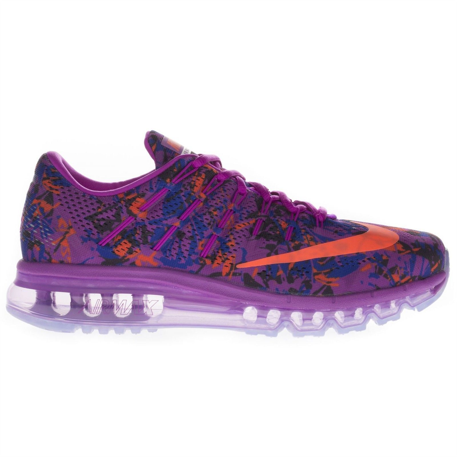 d96b3f22aeb7e Details about Nike Women's Air Max 2016 Print Low Top Running Sports Casual  Purple Trainers
