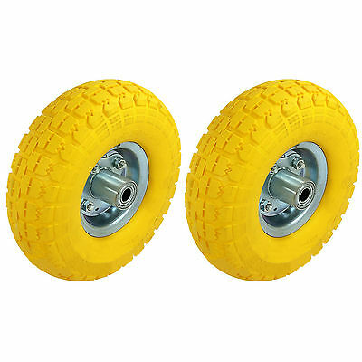2 x Solid Sack Truck Tyres Replacement Wheel Trolley Cart Tire Barrow Tow Tyre