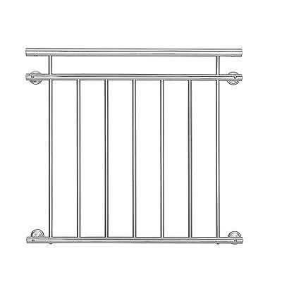 [casa.pro]® Französischer Balkon 90x100cm Fenster Geländer Gitter Stabgeländer