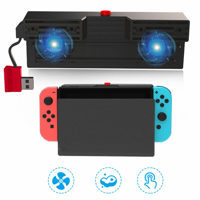 Cooling Dual Fan External Controller Cooler Dock Station for Nintendo Switch