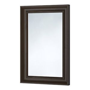 Hemnes black brown mirror