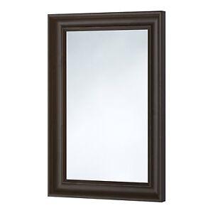 Hemnes black brown mirror