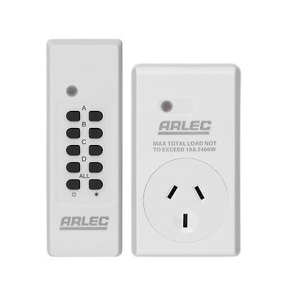 Arlec Remote Controlled Power Outlet Operating Range Approximately 30m AU Stock