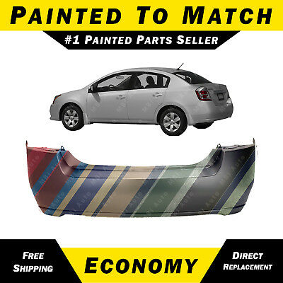 NEW Painted to Match - Rear Bumper Cover Replacement for 2007-2012 Nissan Sentra