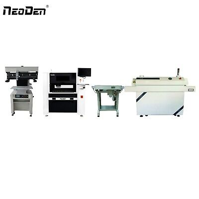 Smt Production Line Neoden 7 Pick And Place Machine 6 Heads 20 Feeders