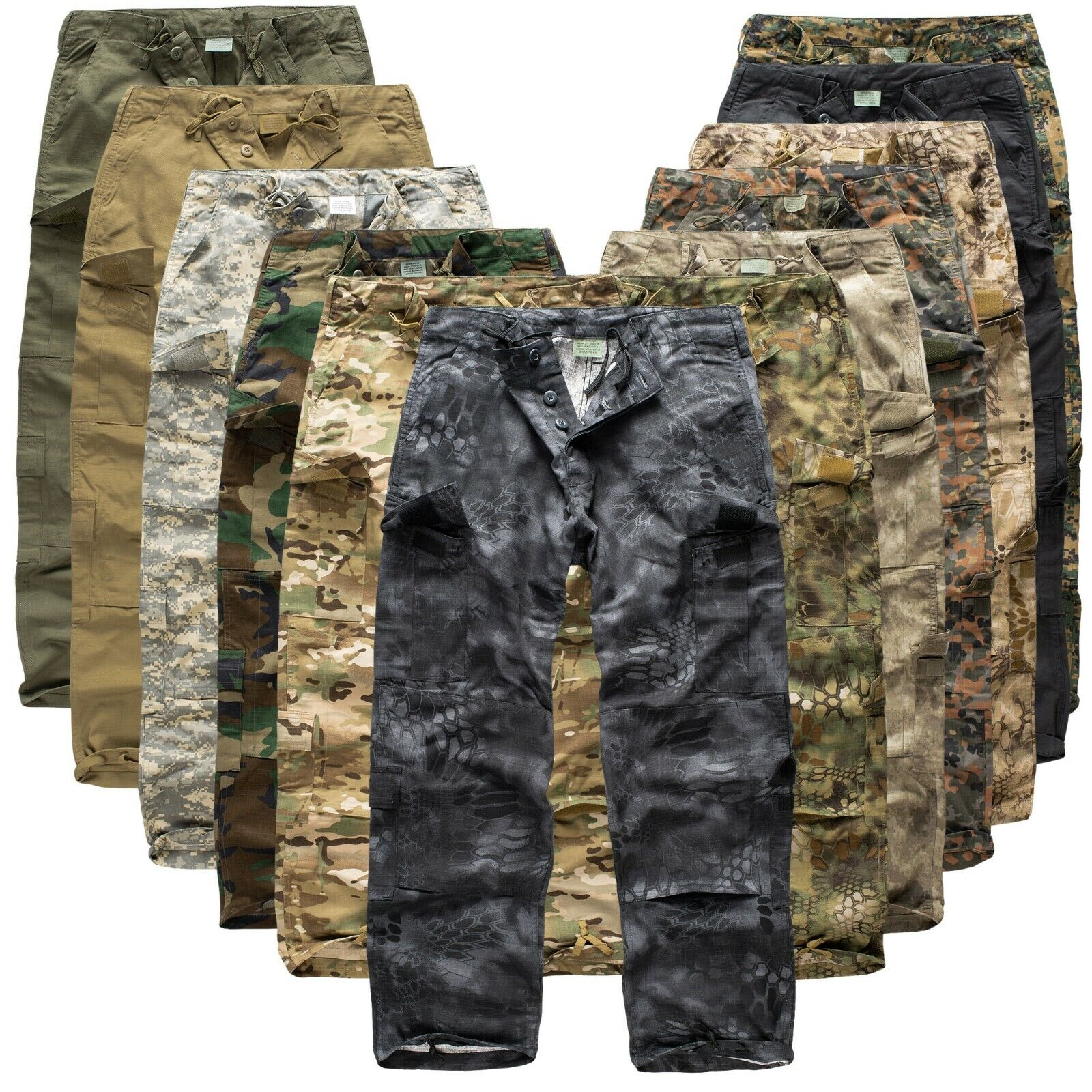 Urbandreamz US ACU Rangerhose Ripstop Freizeithose Tarnhose BDU Camouflage Hose