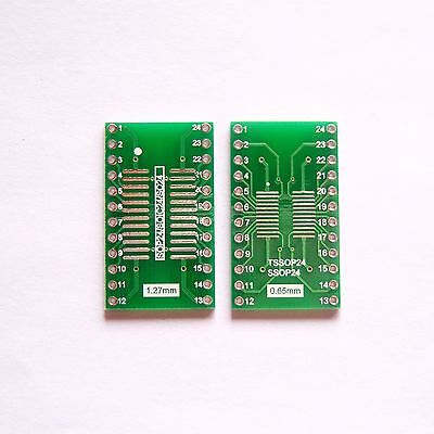 10 Pcs So Sop Soic Ssop Tssop 24 Pin To Dip 24 Adapter Pcb Board Converter B15