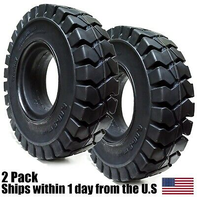2pk 6.00-9 Tires Solid Solver Forklift Tire 6.009 Flat Proof 6009