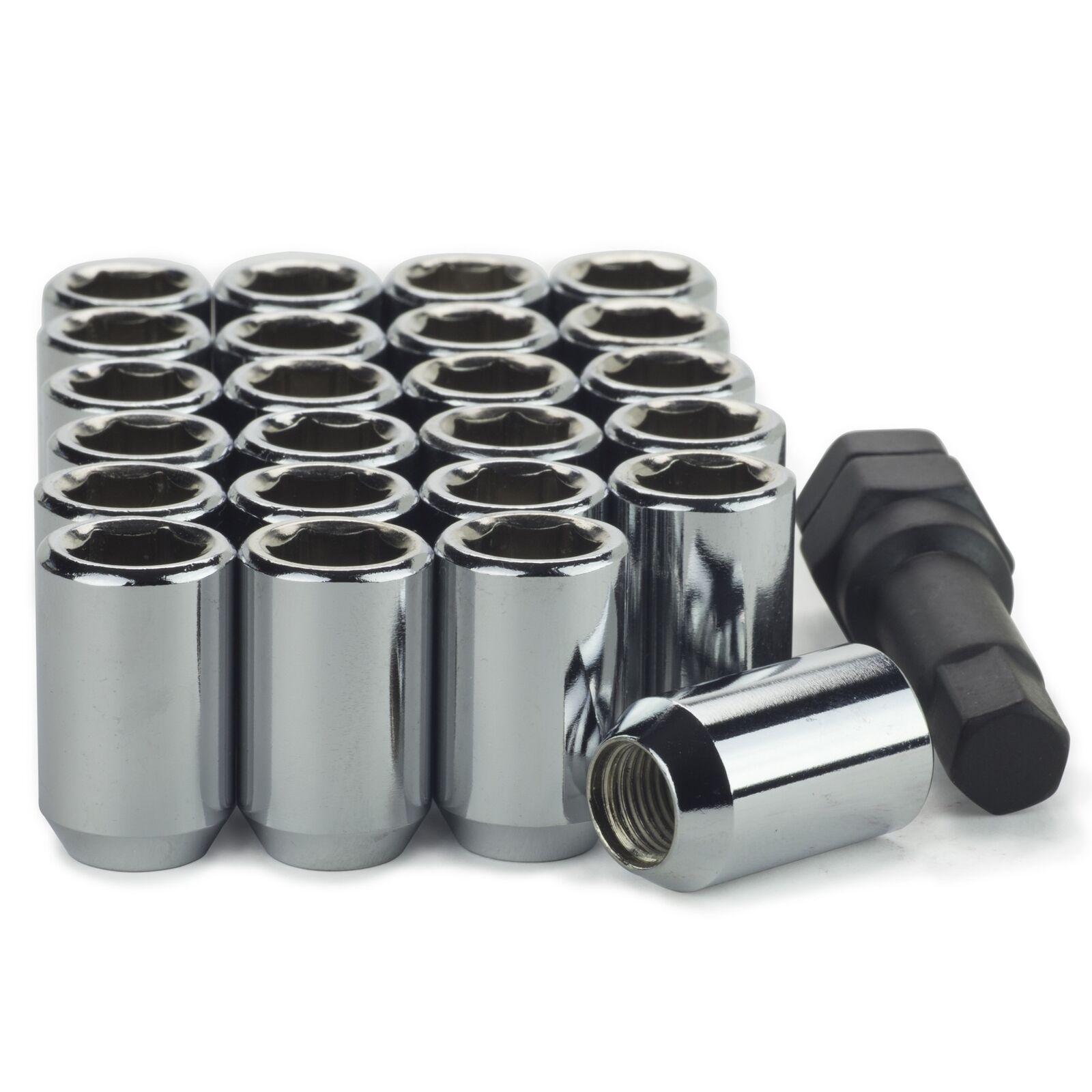 1 Long Bulge Acorn Closed Style Lug Nut 1//2-20 13//16 Socket