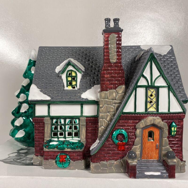 Dept. 56 Snow Village Oak Grove Tudor 1991 #5400-3 - Includes Original Box
