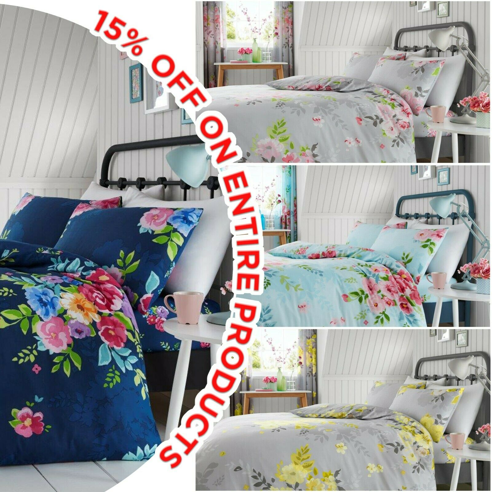 New Printed Designs Duvet Cover with Pillow Case Quilt Cover Bedding Set All Siz