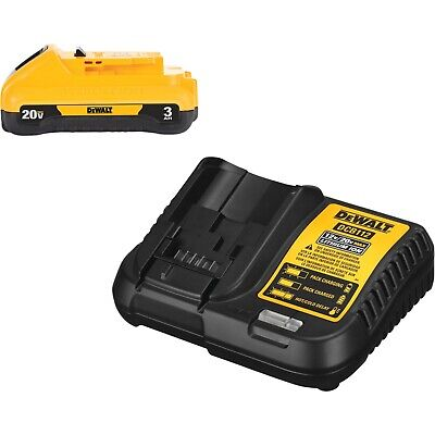 Dewalt 20v Max Battery Pack With Charger 3ah Dcb230c 3-ah Battery New