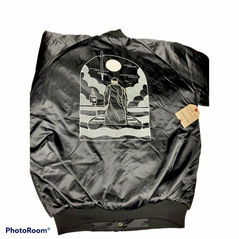 Jon Bellion Glory Sound 🔥 New XL Black Satin Cardinal Jacket Bomber Concert