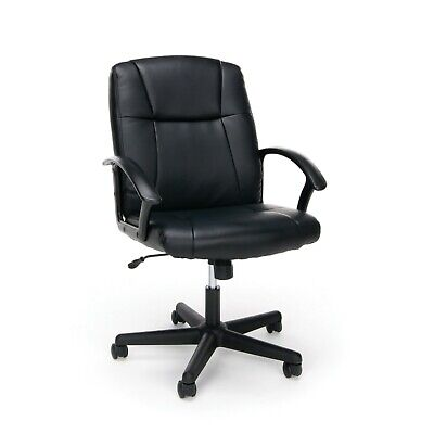 - OFM Essentials Collection Executive Office Chair, Bonded Leather, in Black (ESS-