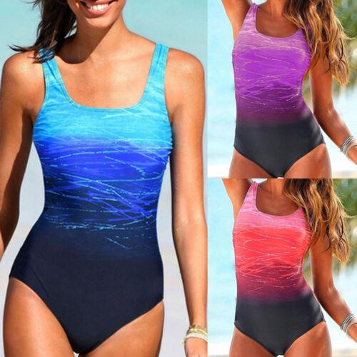 Damen Bademode Badeanzug Push Up Monokini Bikini Einteiler Bathing Schwimmanzug