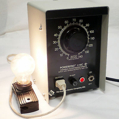 Superior Powerstat L116c 0-140vac 10amp Variac Transformer Tested - Mint Cond.