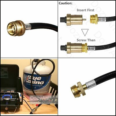 4 Ft Propane Tank Weber Grill Adapter Hose Gas Extension BBQ LP QCC1 1lb to (Bbq Grill Propane Gas Tank)