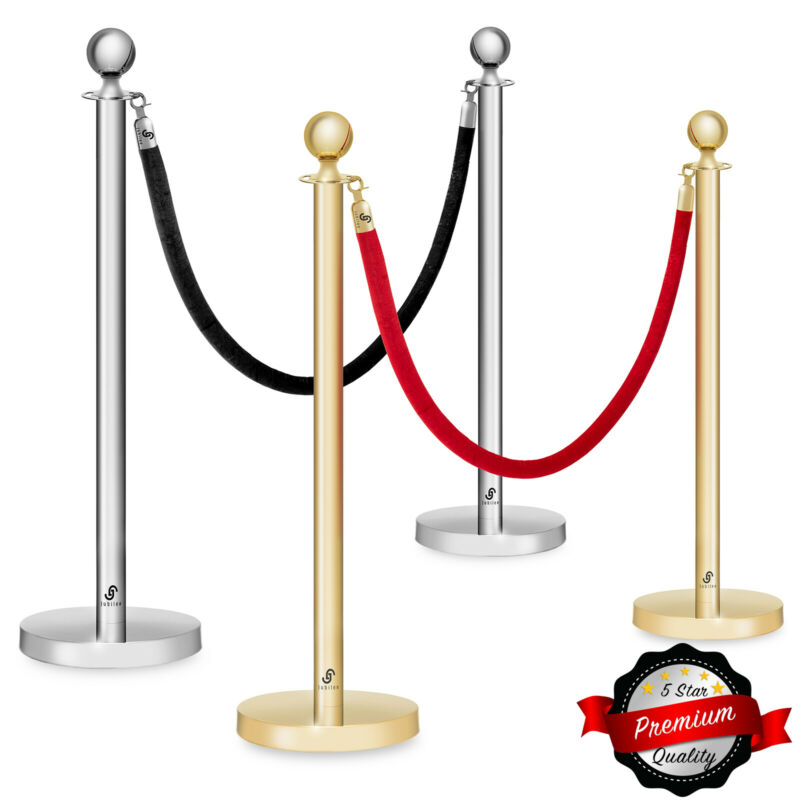 Set of 2 Ball Top Stanchion Post 6.5