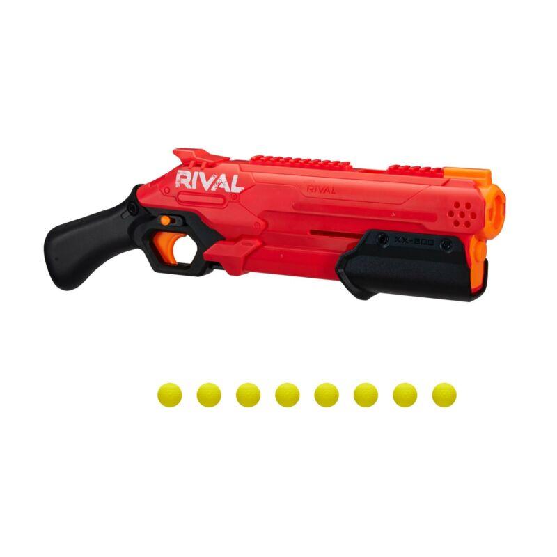 Nerf Rival Takedown XX-800 Blaster -- Pump Action, Breech-Load, 8-Round