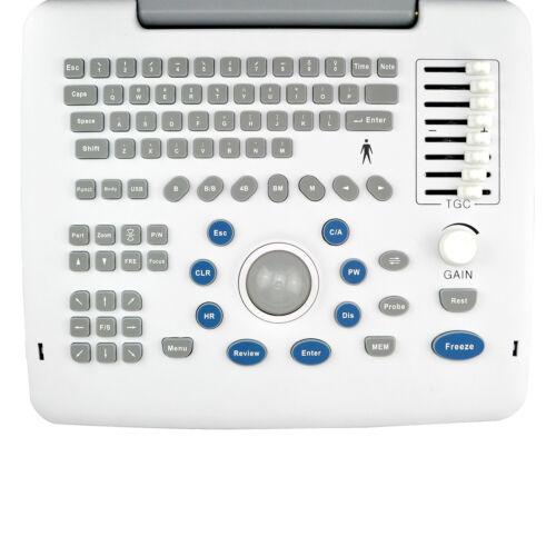 NEW MEDICAL 12'' SVGA DIGITAL ULTRASOUND SCANNER MACHINE+ CONVEX + TRANSVAGINAL +3D!