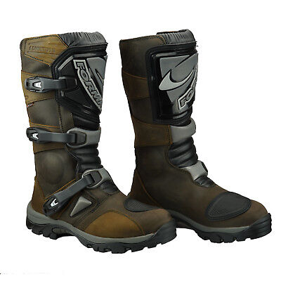 Forma Adventure Leather Touring Waterproof Motorcycle Boots Brown RIDE BEST