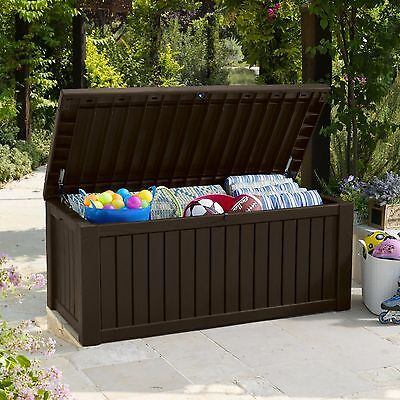 Storage Deck Box Outdoor Patio Garden Keter 150 Gallon Pool Bench Furniture Seat