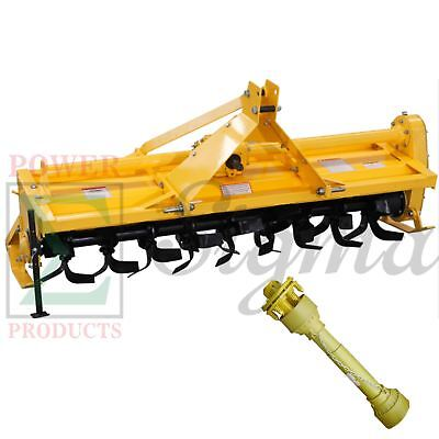 New Sigma 7 Ft 84 Rotary Tiller 3 Point Hitch Mounted Pto Driven With Shaft