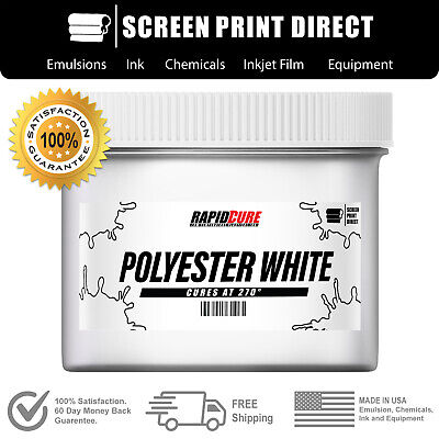Polyester White - Low Temperature Cure Plastisol Ink For Screen Printing - 8oz