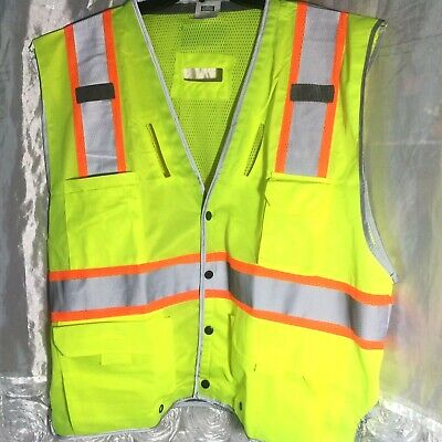 MIR REFLECTIVE SAFETY VEST BIKING RUNNING JOGGING-FOR BOTH MEN/&WOMEN-SIZE M//L
