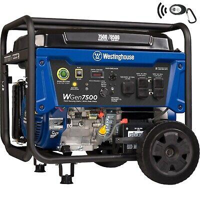 Open Box Westinghouse Wgen7500 Portable Generator