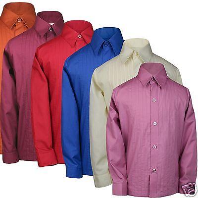 Boys Formal Tuxedo Suits Shirt Red Blue Rust Pink Burgundy Orange Ivory sz 0-20](Boys Pink Tuxedo)