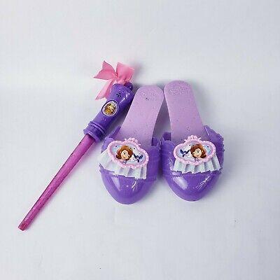Princess Sofia Costume (Disney Princess purple Plastic Dress Up Costume Shoes Sofia the First & Wand)