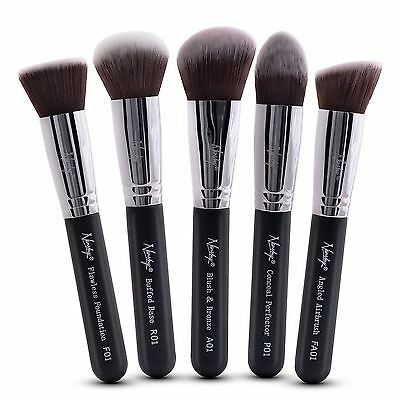 Nanshy Kabuki Cosmetic Makeup Brush Set Foundation Powder Liquid Cream Make Up