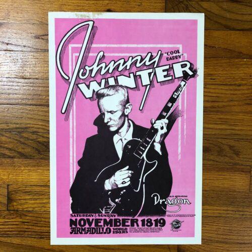 Johnny Winter ~ Armadillo World Headquarters Original 1978 Art Print / Poster