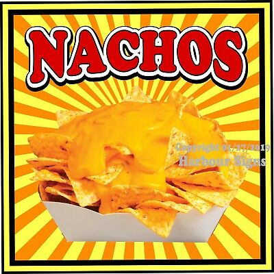 Nachos Decal Choose Your Size S Concession Food Truck Vinyl Sign Sticker