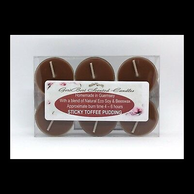 Soy Toffee (Sticky Toffee Pudding Scented Soy Tea Lights - GeriBeri Scented Candles )
