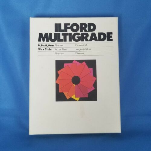 ILFORD MULTIGRADE FILTERS 12 Filters 3½ x 3½ inch Complete Set