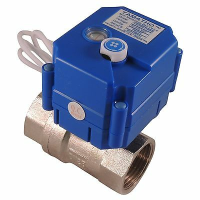 Electric Actuator Ball Valve Fail Close 1 Brass With Ptfe Coated Ball