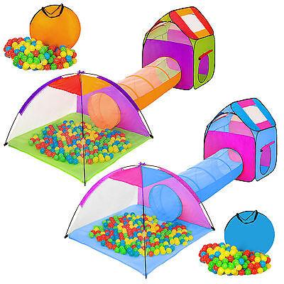 Kinderzelt Mit Tunnel 200 B�lle Spielzelt B�llebad Pop Up Zelt Krabbeltunnel