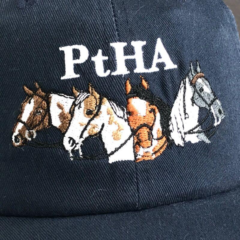 Pinto Horse Association PtHA Long Ear Registry Embroidered Baseball Hat Cap