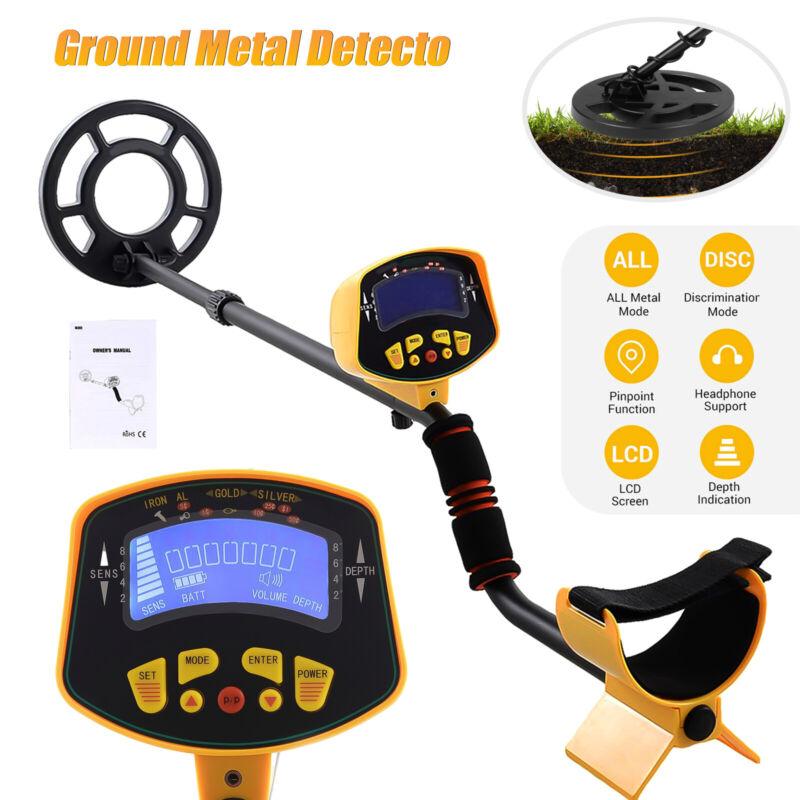 Metal Detector Gold Digger Deep Waterproof Coil Deep Ground Sensitive w/ LCD